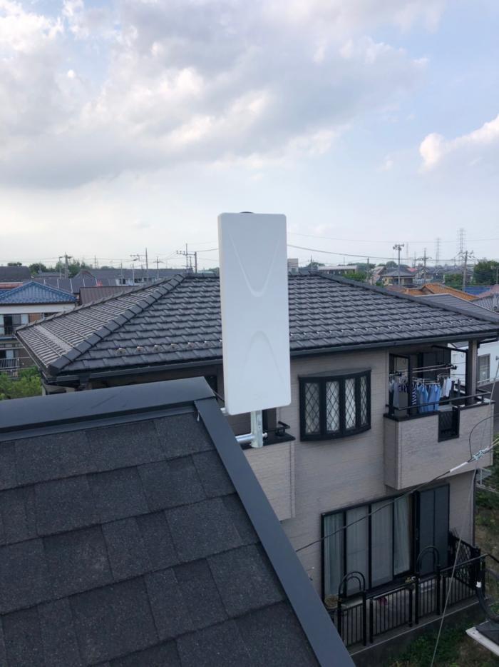 川口市神戸 デザインアンテナ工事