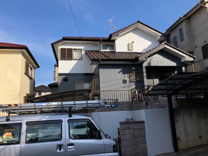 千葉市緑区本田町 UHFアンテナ+BSアンテナ工事