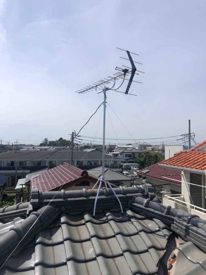さいたま市中央区下落合|UHFアンテナ工事