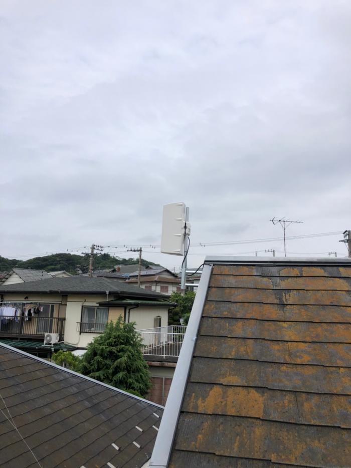 さいたま市桜区道場|横型デザインアンテナ工事