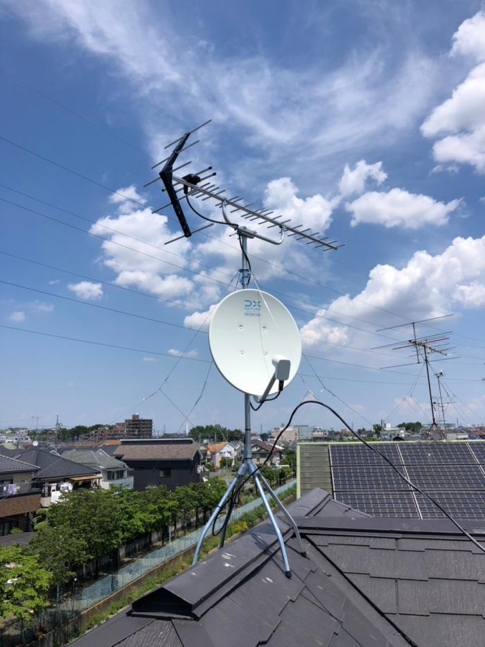 さいたま市桜区昭和|UHFアンテナ+BSアンテナ工事