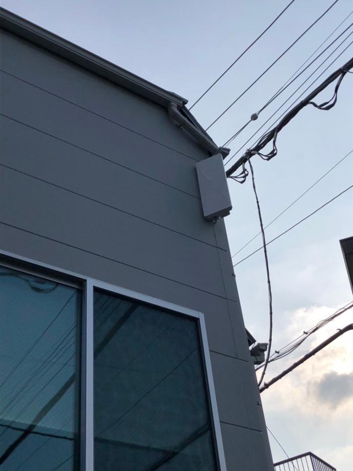 板橋区大谷口|デザインアンテナ+BSCSアンテナ工事