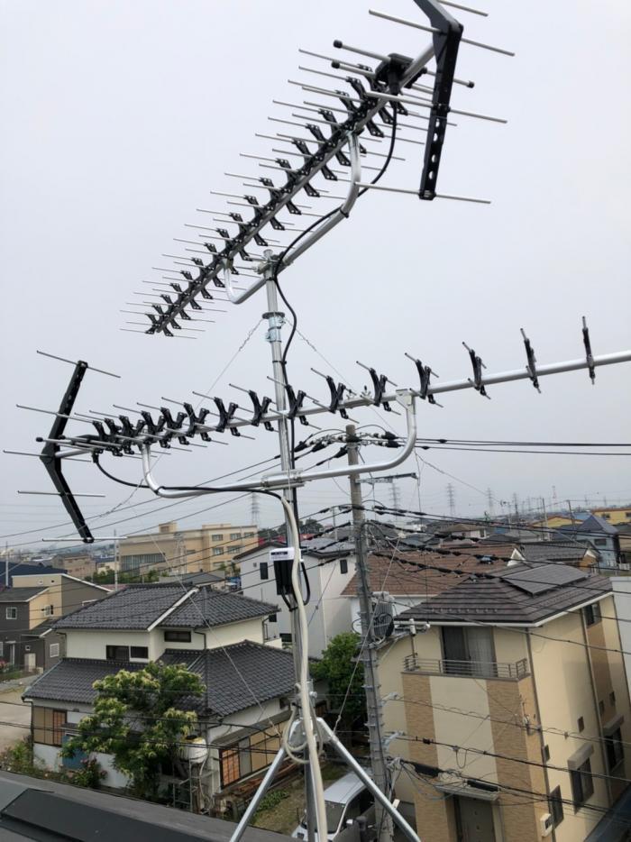 吉川市平沼 高性能UHFアンテナ工事