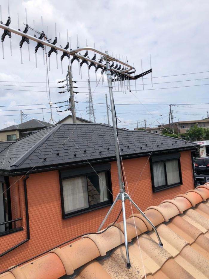 座間市入谷西 高性能UHFアンテナ工事