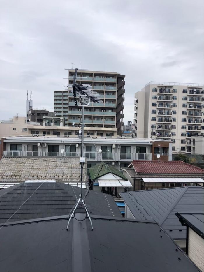 川崎市幸区柳町|高性能UHFアンテナ工事
