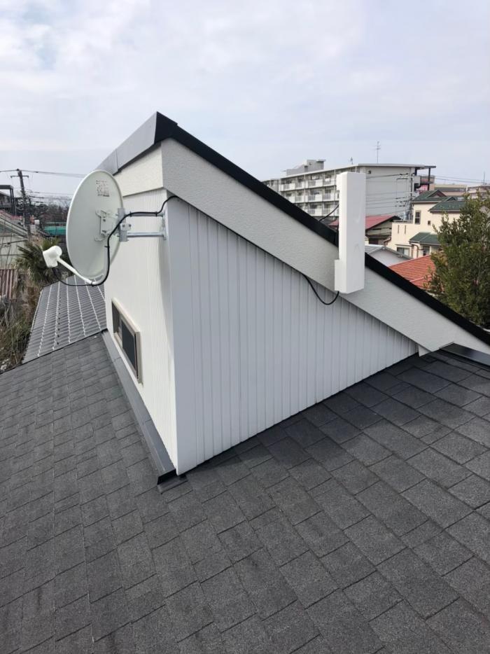 小平市花小金井|デザインアンテナ+BSCSアンテナ工事