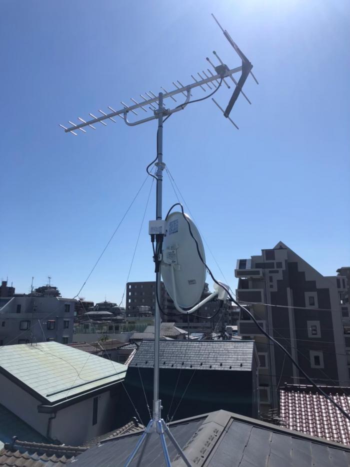 板橋区東新町|デザインアンテナ BSCSアンテナ工事
