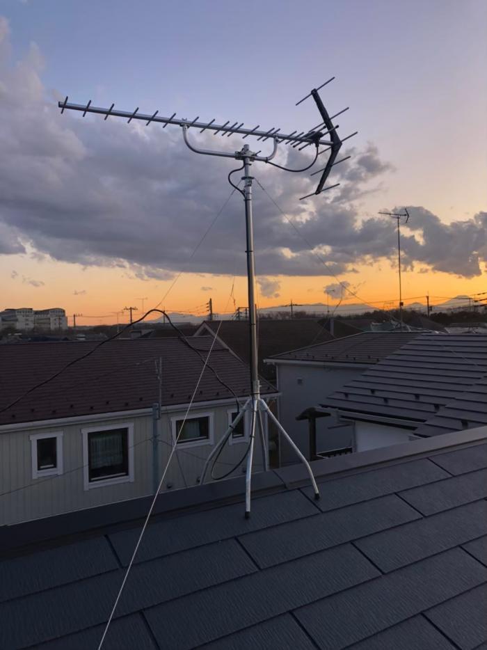 立川市砂川町|UHFアンテナ工事