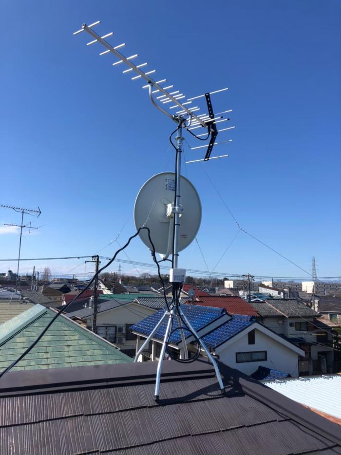 東久留米市下里|UHF+BSCSアンテナ工事