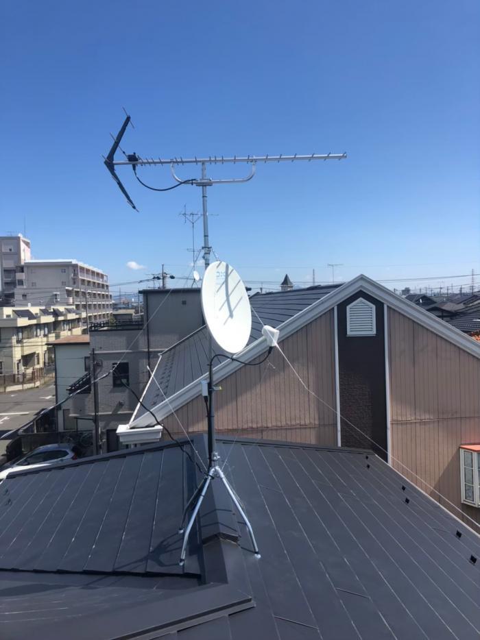 小山市駅南町|八木式+BS/CSアンテナ工事|タクトホーム