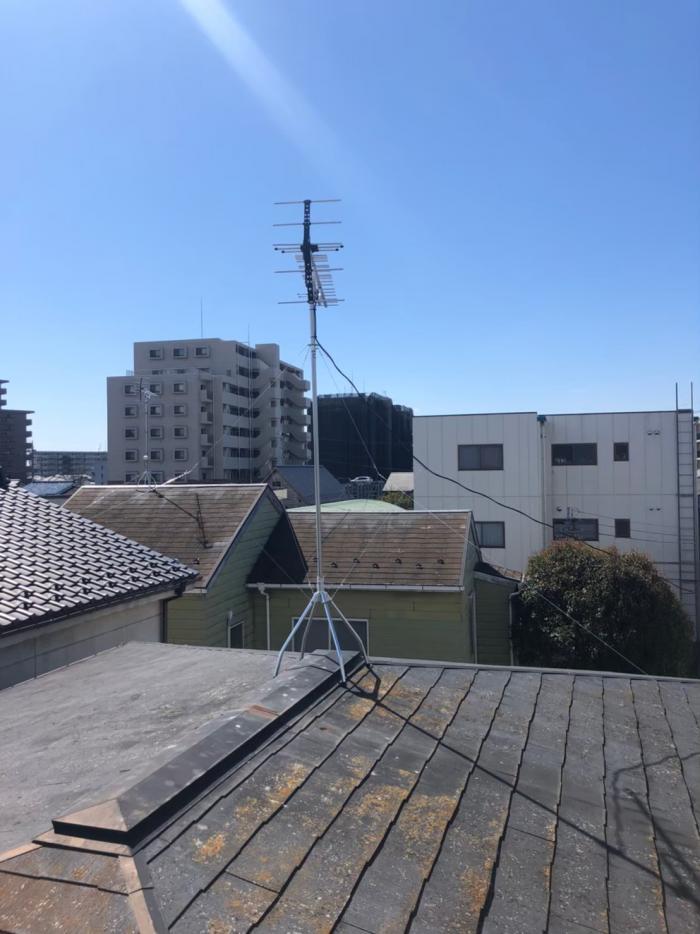 古河市本町|八木式アンテナ設置+撤去工事
