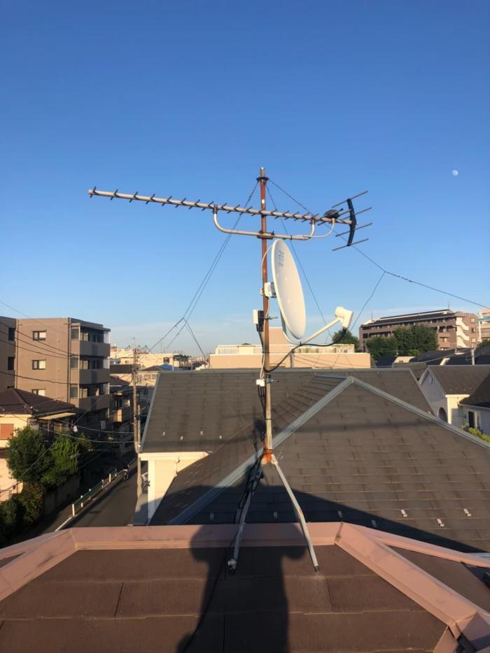 大田区南馬込|BSアンテナ追加工事