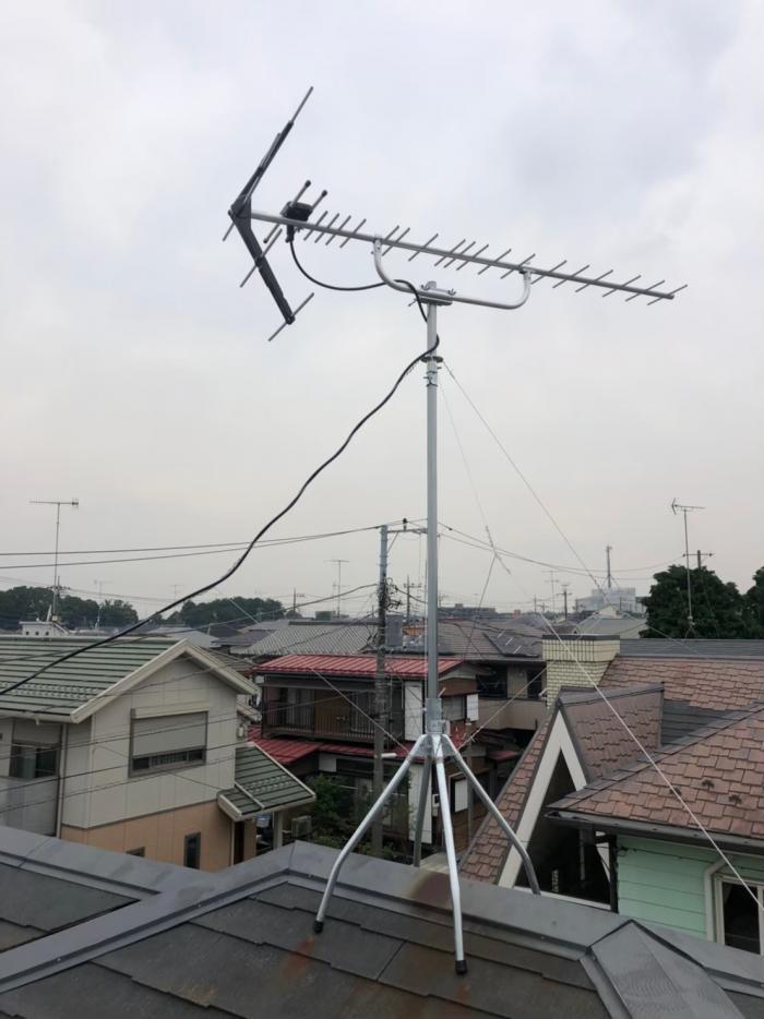 横浜市瀬谷区三ツ境|UHFアンテナ工事+既存アンテナ撤去工事