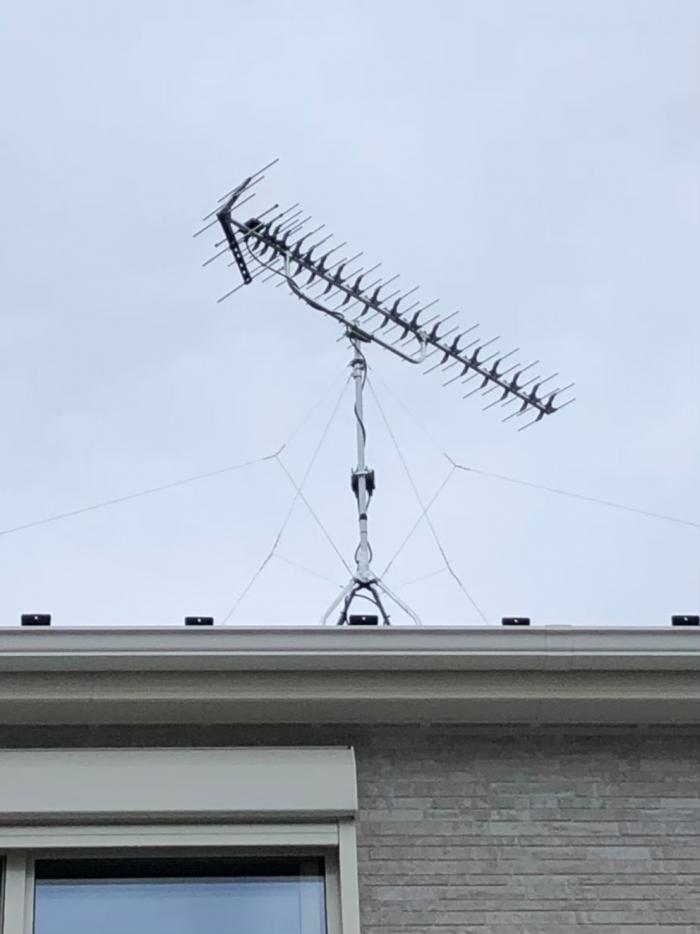 横浜市泉区和泉中央南 高性能UHFアンテナ工事