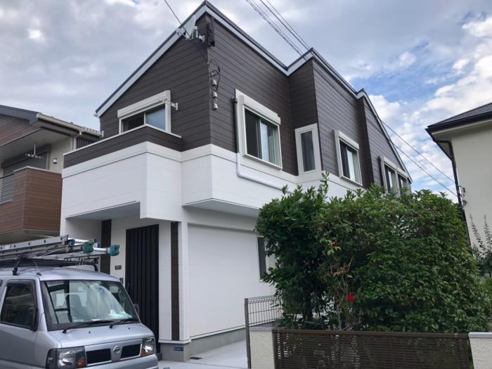 川崎市多摩区菅仙谷|デザインアンテナ+BSアンテナ工事