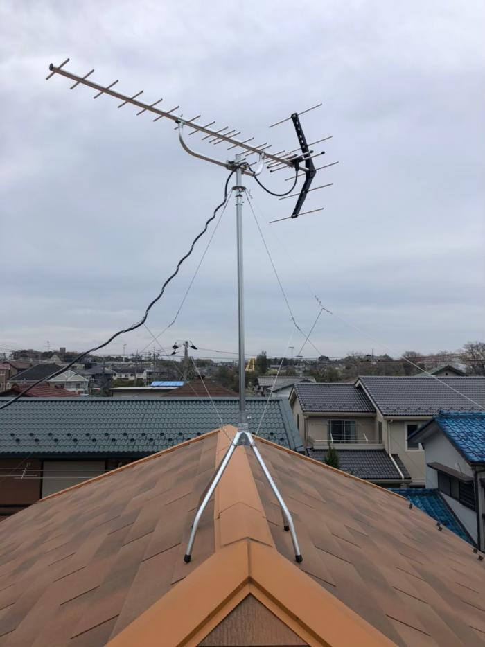 松戸市小金原|八木式アンテナ工事|一建設