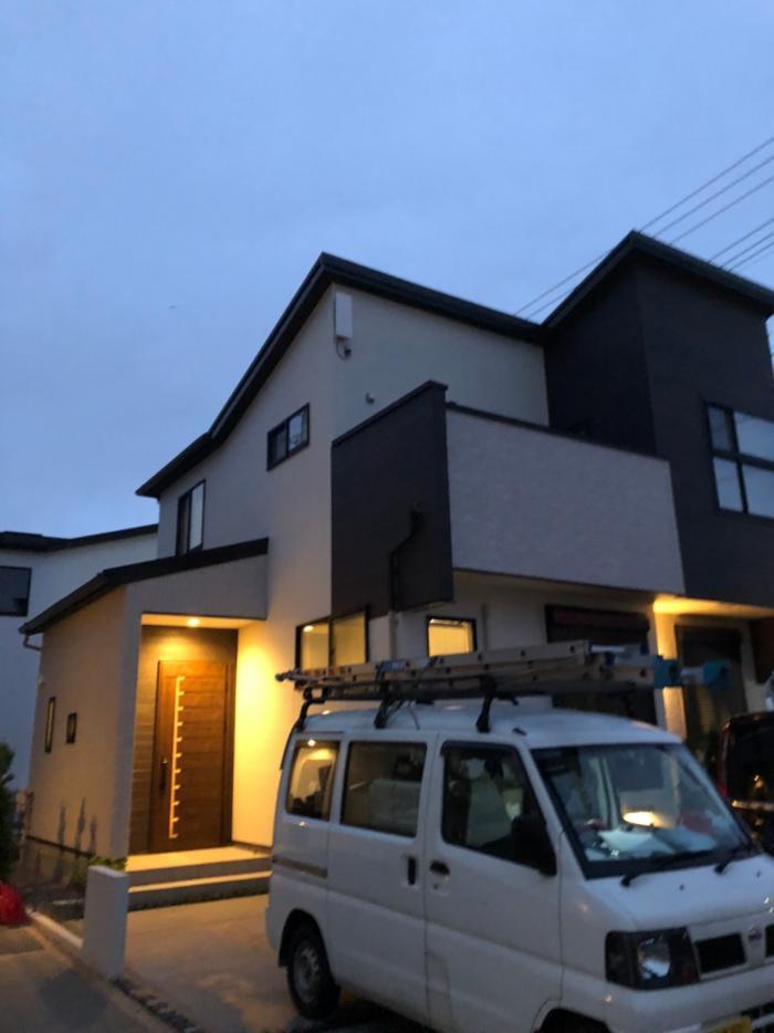 上尾市栄町|デザインアンテナ工事|ポラス