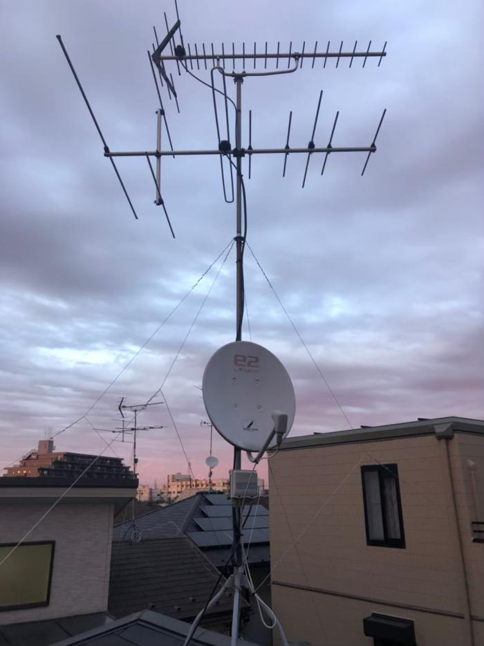 さいたま市北区|BSアンテナ方向調整+配線補強工事