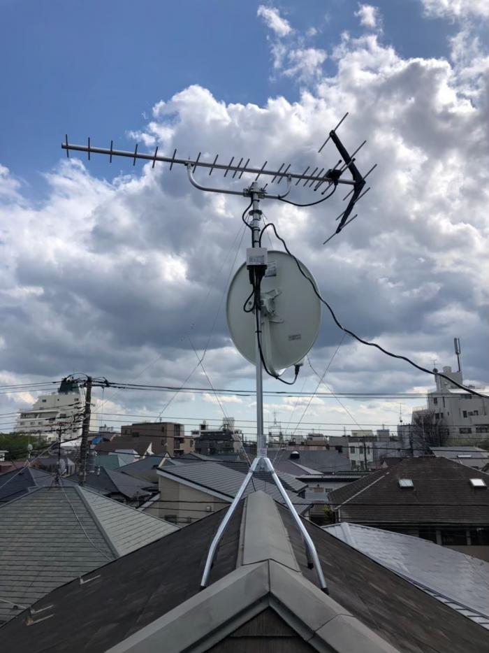 杉並区西荻北|八木式アンテナ+4K8K工事
