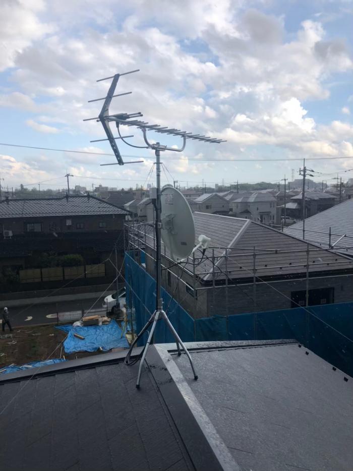 柏市大室 八木式+BS/CSアンテナ工事