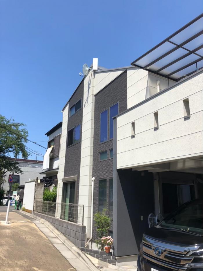 練馬区早宮|デザイン+BS/CSアンテナ工事|フィットイーハウス