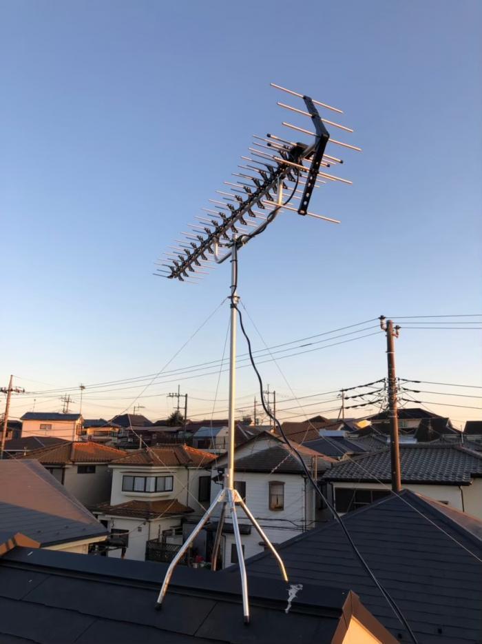 入間市南峯|高性能UHFアンテナ工事