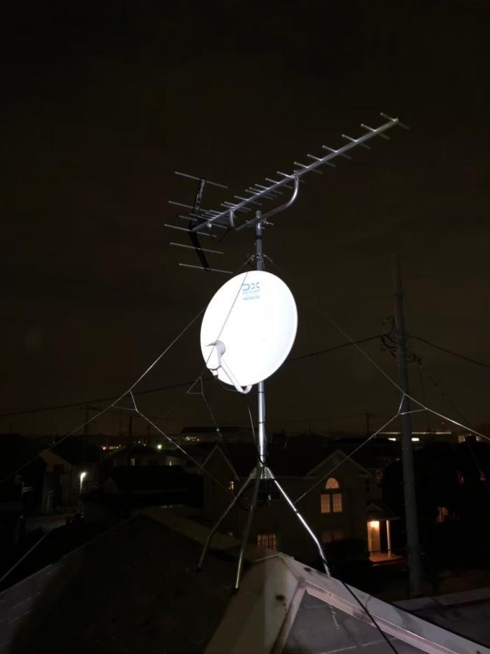 北足立郡伊奈町内宿台|UHFアンテナ+BSCSアンテナ工事