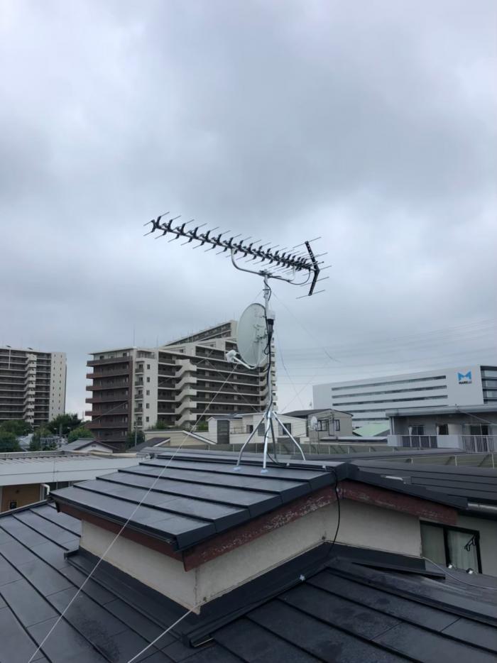 さいたま市北区本郷町|高性能UHFアンテナ+BSCSアンテナ工事
