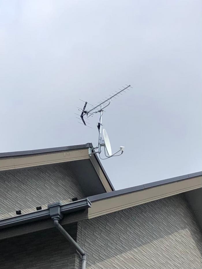 船橋市上山町|UHFアンテナ+BSCSアンテナ工事