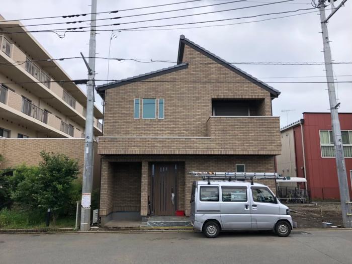 大和市渋谷|横型デザインアンテナ+BSCSアンテナ工事
