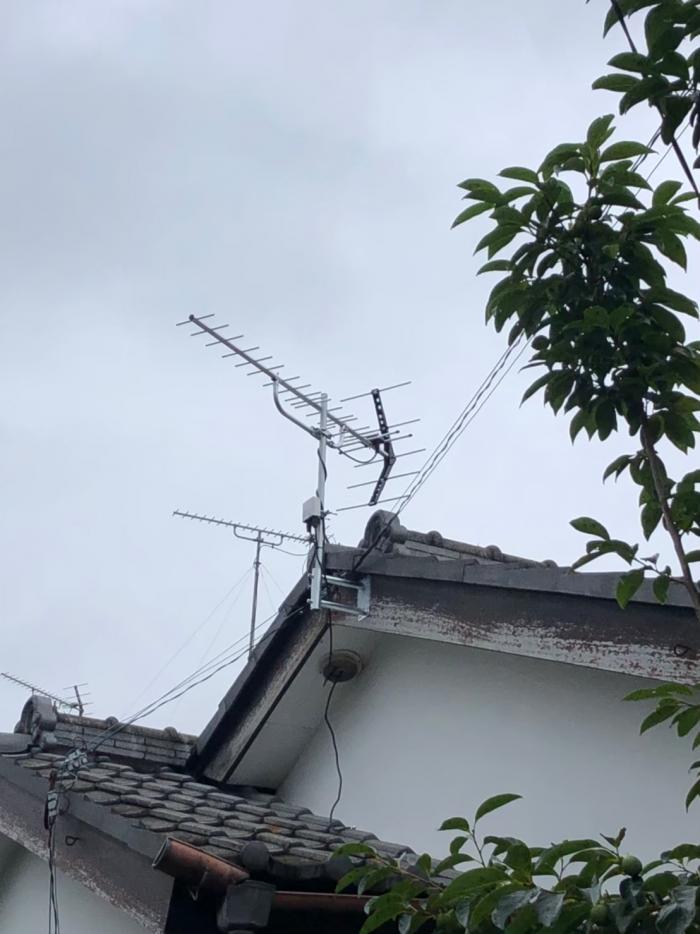 川口市本前川 UHFアンテナ工事