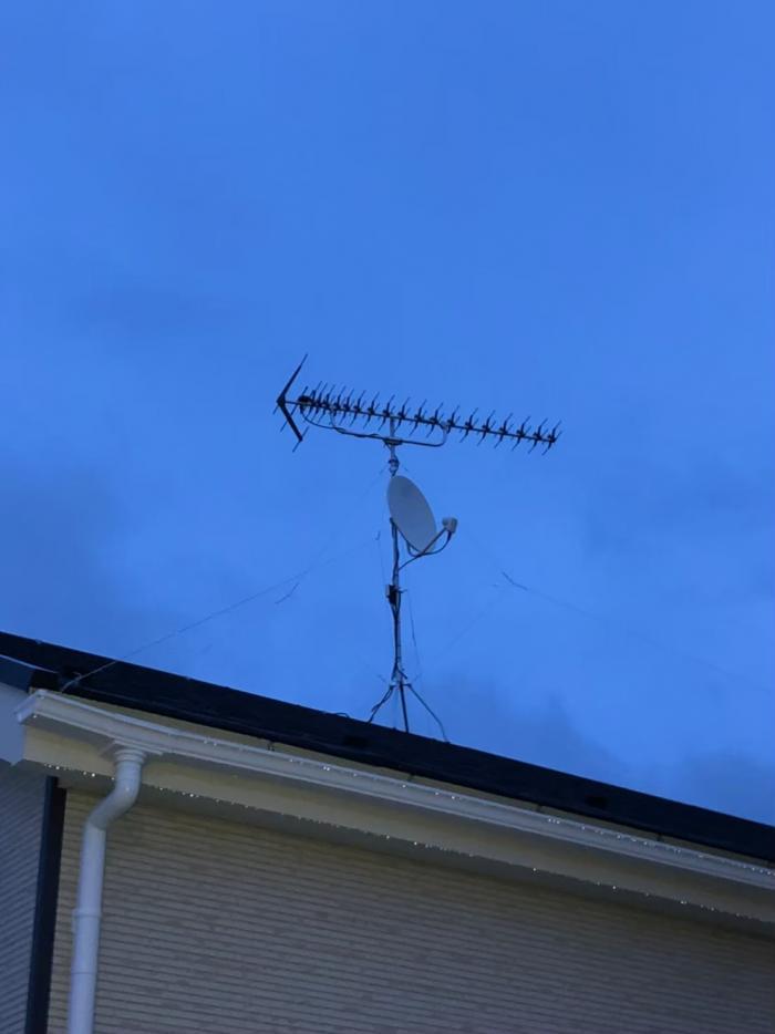 幸手市南|高性能UHFアンテナ+BSCSアンテナ工事