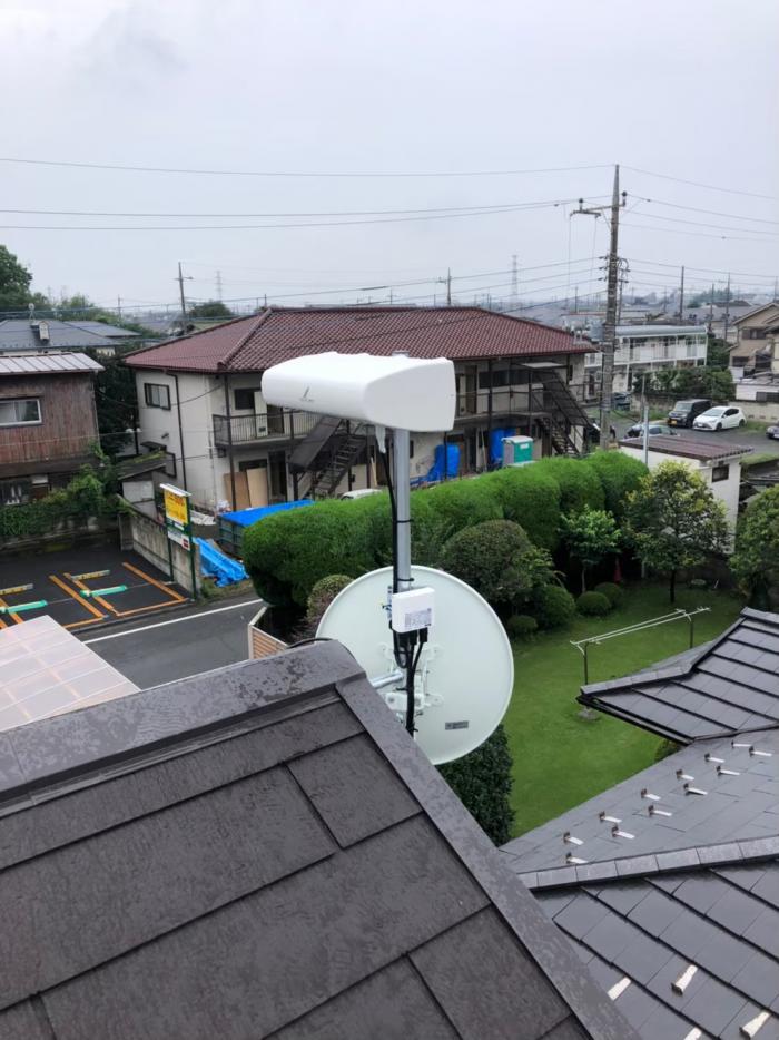 所沢市緑町 横型デザインアンテナ+BSCSアンテナ工事