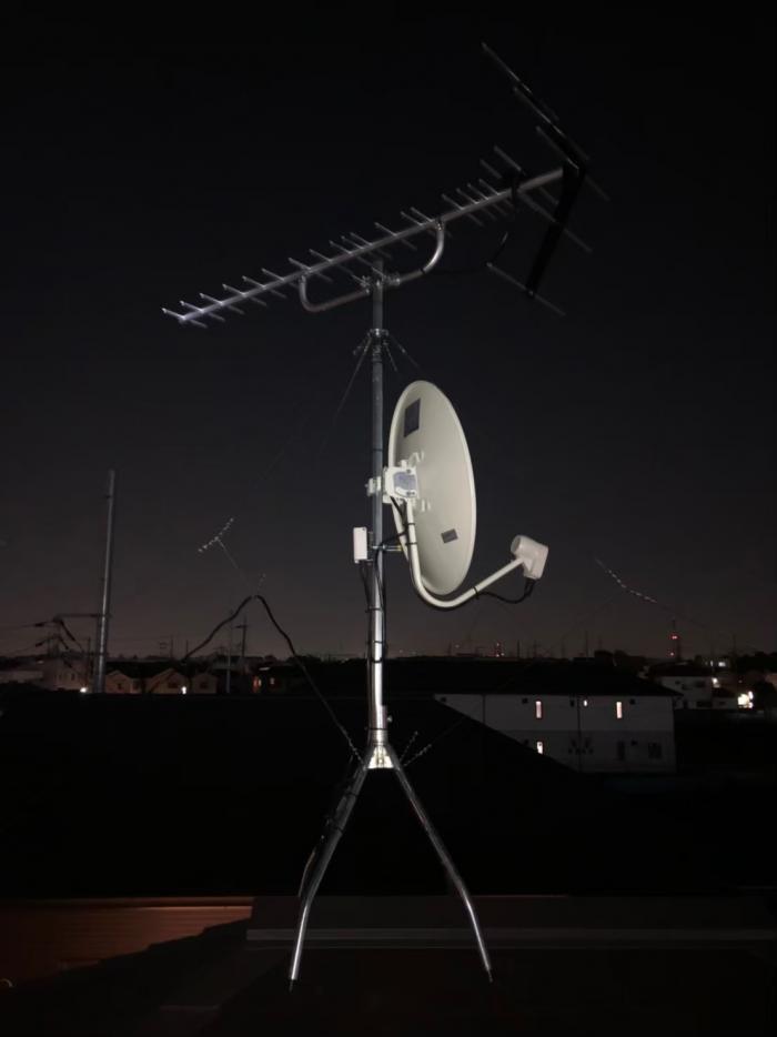 足柄上郡大井町上大井|UHFアンテナ+BSCSアンテナ工事