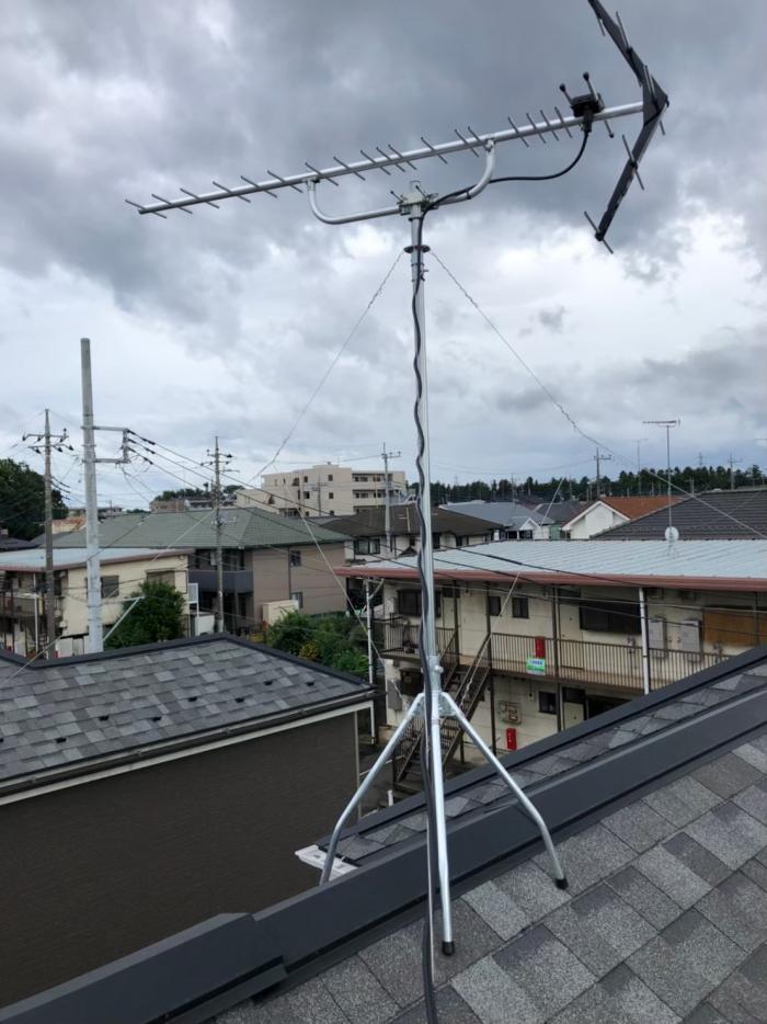 入間市久保稲荷|UHFアンテナ工事