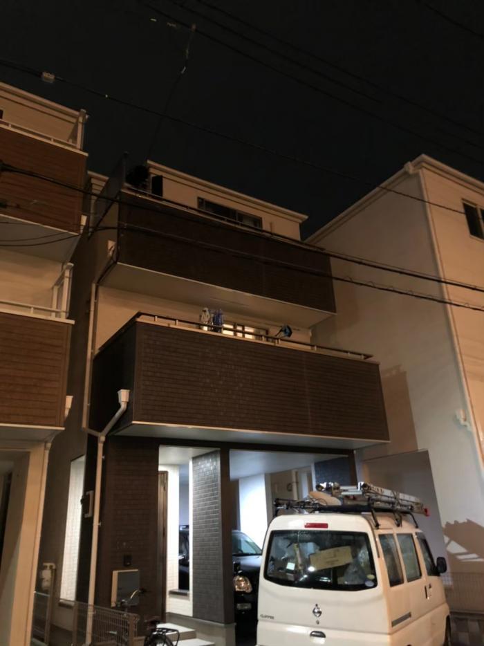 足立区一ツ家|デザインアンテナ+BSCSアンテナ工事|飯田ホールディングス