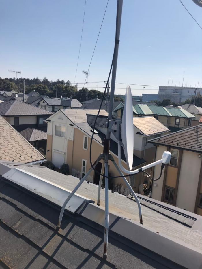 滑川町月の輪|BSアンテナ方向調整工事