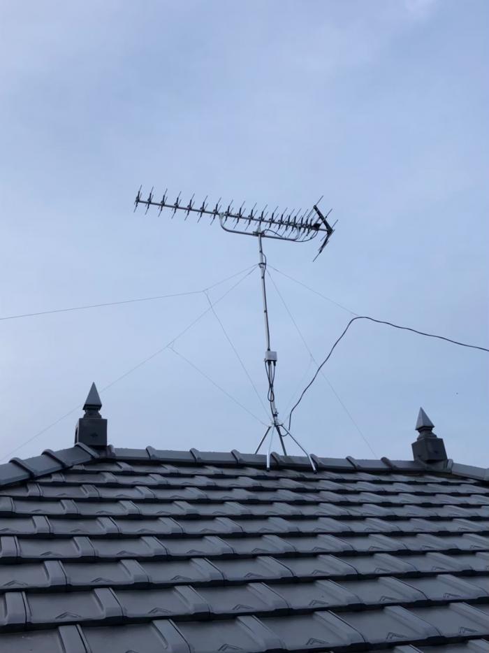 富里市大和|高性能UHFアンテナ工事