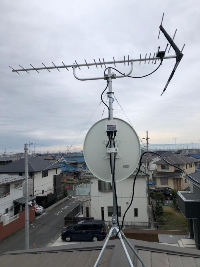 行田市深水町|UHFアンテナ+BSCSアンテナ工事