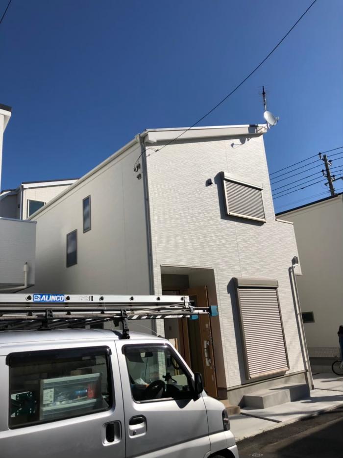 立川市富士見町|UHFアンテナ+BS/CSアンテナ工事