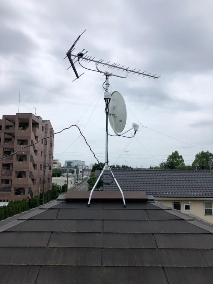つくば市東光台|UHFアンテナ+BS/CSアンテナ工事|大和ハウス