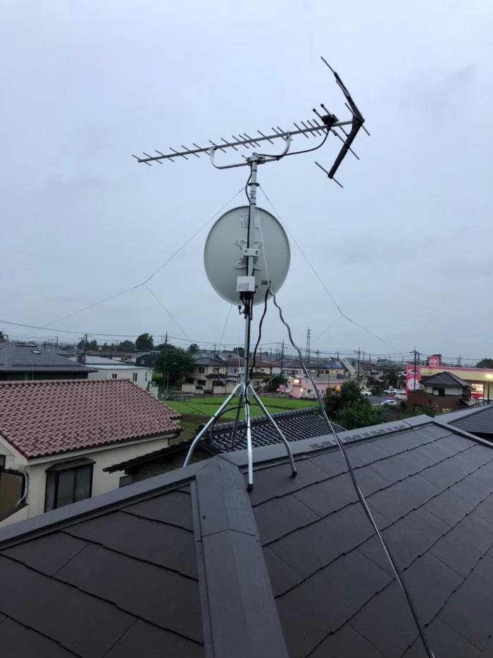 久喜市鷲宮|UHFアンテナ+BS/CSアンテナ工事