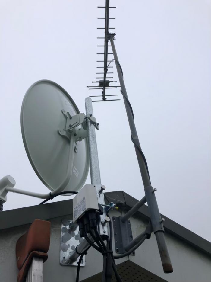鹿嶋市角折|BS/CSアンテナ追加工事