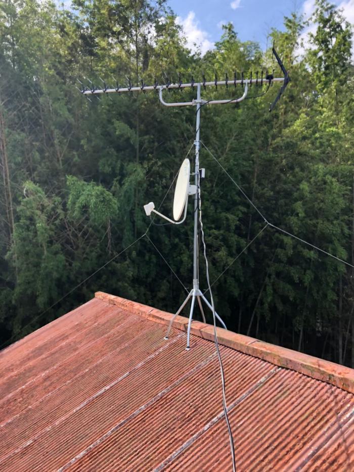 白井市復|高性能UHFアンテナ+BS/CSアンテナ工事