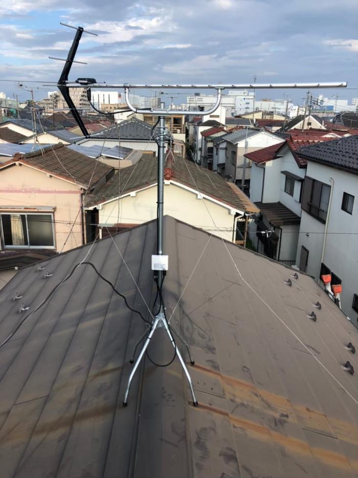 松戸市栄町|UHFアンテナ+既設アンテナ撤去工事
