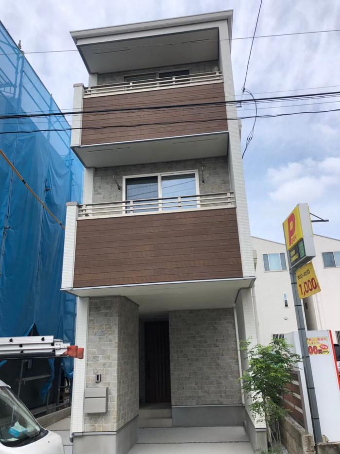 川崎市中原区北谷町|デザインアンテナ+BS/CSアンテナ工事|オープンハウス