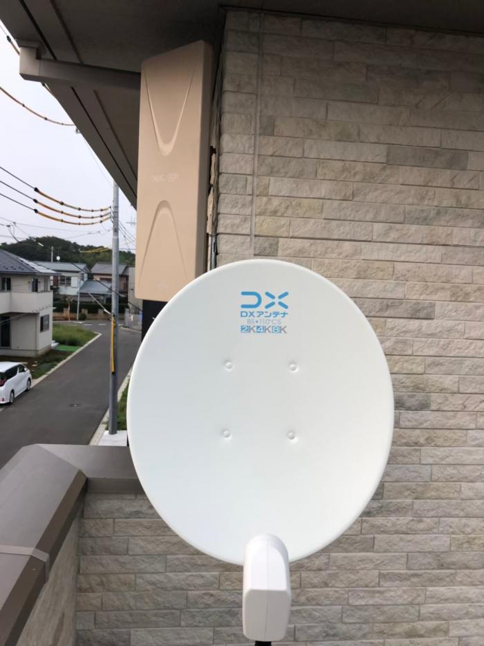 船橋市坪井町|デザインアンテナ+BS/CSアンテナ工事|ミサワホーム