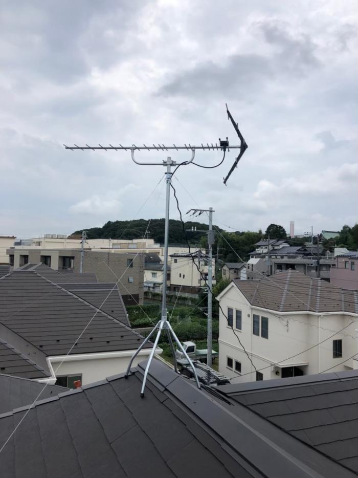 川崎市多摩区須賀北浦|UHFアンテナ工事