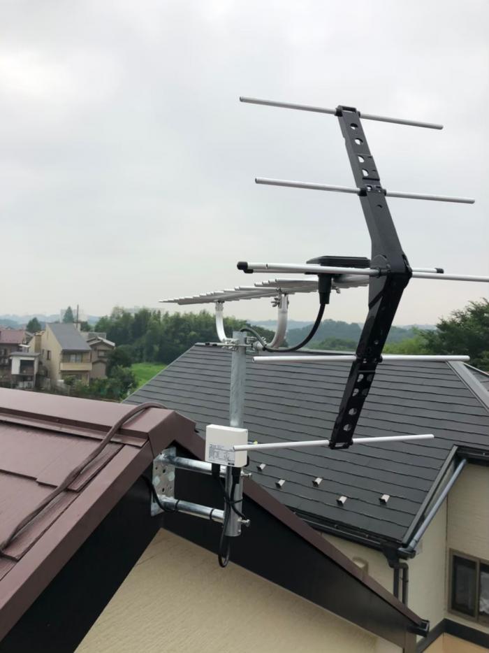 狭山市笹井|UHFアンテナ工事