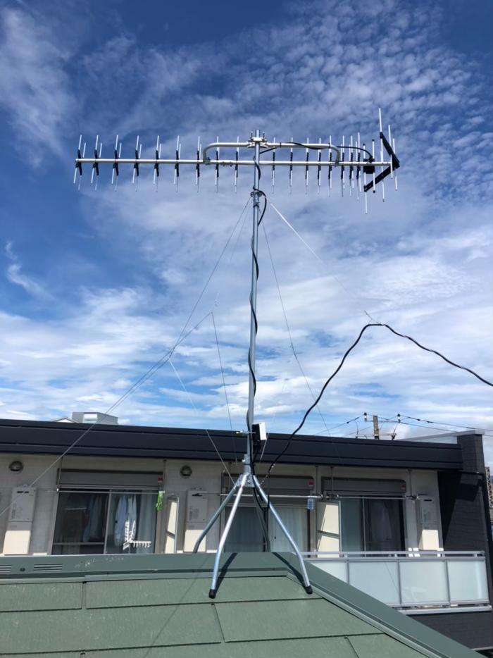 海老名市国分北 高性能UHFアンテナ工事